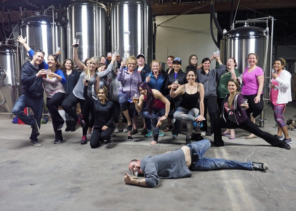 Beer Yoga Group - Copyright Crafty Beer Girls